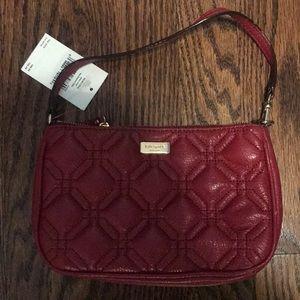 Kate Spade crimson clutch purse